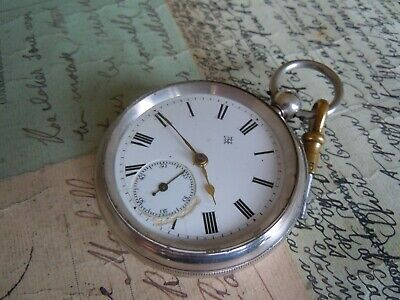 Antique Mechanical Silver Pocket Watch By Ganter Bros. Dublin Circa B'ham 1902