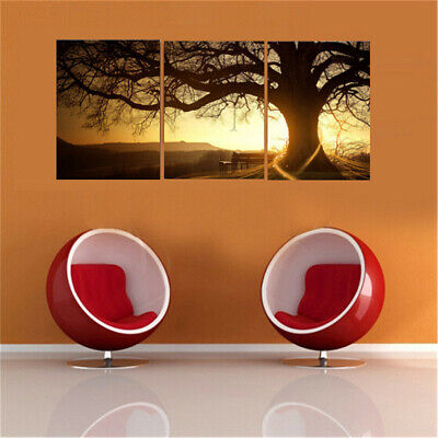 3Pcs Sunset Combination Painting Printed On Canvas Frameless Drawing Home