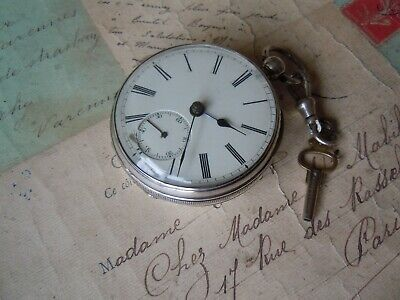 Antique Mechanical Silver Fusee Pocket Watch By J Mc.chesney Belfast Circa 1888