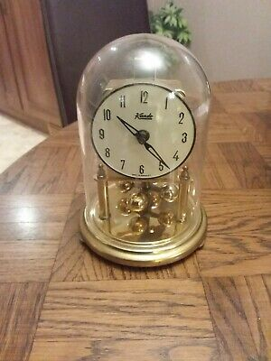 Vintage Kundo Brass Anniversary Clock 7 Inches Tall