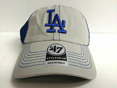 newest collection 59df3 ae82b Los Angeles Dodgers 47 Brand Cap Adjustable Mesh Trawler Clean Up Dad Hat  MLB