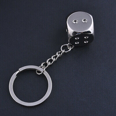 Creative Motorcycle Dice Keyfob Keyring Keychain Key Chain Ring 1pcs S