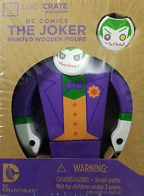 2 Set Lot Officiel Dc Comics de Collection Batman le Joker Peint Bois Figurine