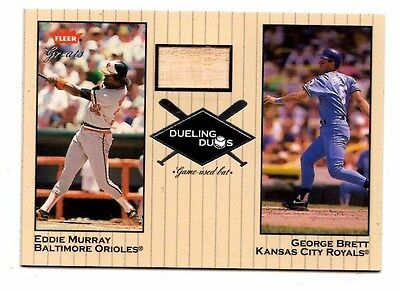 Eddie Murray/George Brett Mlb 2002 Greats Of The Game Dueling Duos Game Used