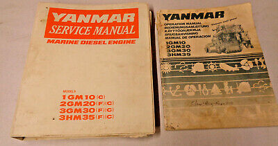 Yanmar Service Manual and Operational Manual for 1GM10,2GM20,3GM30 & 3HM35