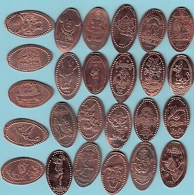 [Z] Disney #2 ~ Elongated Penny Lot Of 25 ~ All Different Designs