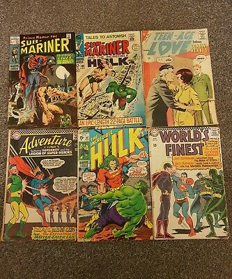 Collection Of Various Comics Including The Incredible Hulk And Worlds Finest