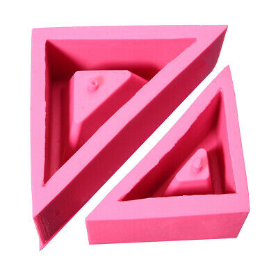 Silicone Flower Pot Mold Triangle Geometric Craft Succulent Plant Concrete Mould