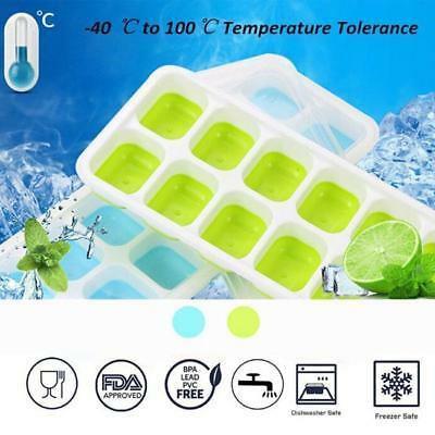 Ice Cube Tray Box Drink Jelly Freezer Mold Silicone Mould Maker 14 Cavity DB