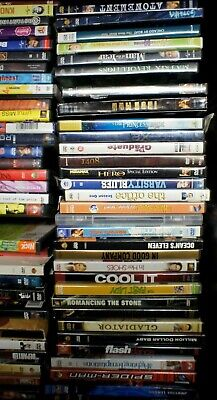 Lots of 50 Used  random ASSORTED DVD Movies 50-Bulk DVDs Lot Wholesale Lots