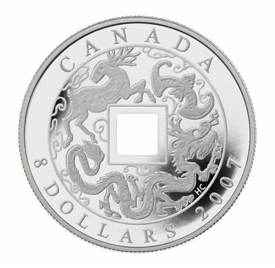 2007 Canada $8 Fine Silver Chinese Coin .9999 pure