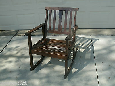 Antique Mission  Style Rocking Chair 1940's Outdoor PICK UP ONLY