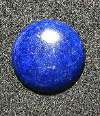 (pls c video!!!)  rd pls!!  larger AFGHAN LAPIS LAZULI TOP GEM GRADE ROUND CAB!