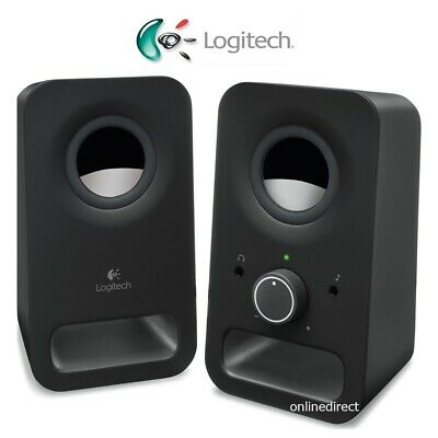 Multimedia Computer STEREO SPEAKERS Sound PC Desktop Laptop Desk LOGITECH 6WZ150