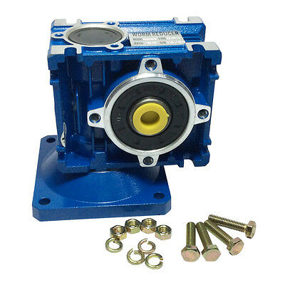Right Angle Gearbox Geared Speed Reducer RV030 Ratio 1/7.5,1/10,1/15,1/30...1/80