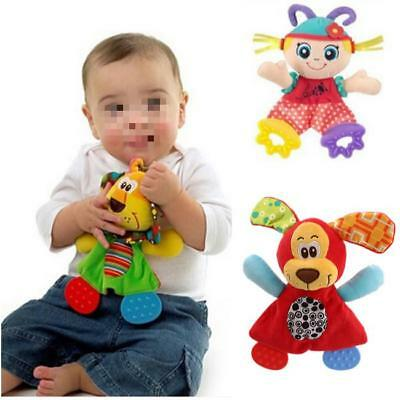 Baby Plush Toy Bed Stroller Hanging Ring Bell Toys Soft Rattle Educational Doll