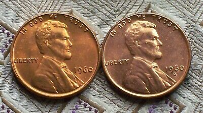 1960-P/d Small Date Lincoln Memorial Cent's ( 2 Coin's ) ( Itm#8180  )