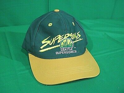 Kids Youth Size NBA Seattle Supersonics Basketball Vintage Hat Cap