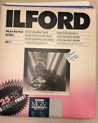 "Ilford 8x10"" MGIV Multigrade IV RC Portfolio Photographic Paper 25+Sheets"