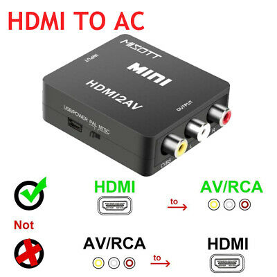 HDMI to RCA Composite AV CVBS 3RCA Video Cable Converter  Adapter 720P/1080p