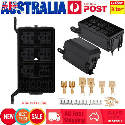hot fuse box auto 6 relay block holders w/41pins for car suv truck insurance