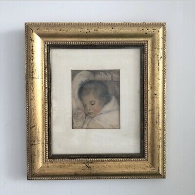 Antique Drawing Of Baby Sleeping