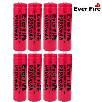 6Pcs 9800mAh Powerful 18650 Battery 3.7v Li-ion Rechargeable Battery + Charger