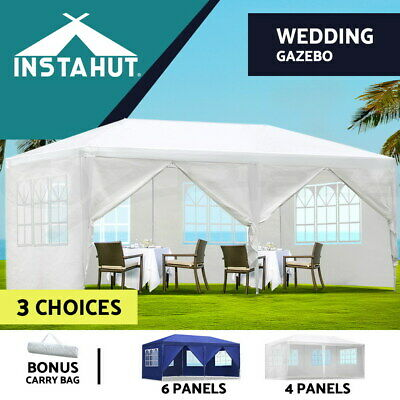 Instahut 3x6m Gazebo Party Wedding Marquee Event Tent Shade Canopy Camping