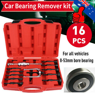 16X Car Inner Disassemble Bearing Blind Hole Remover Extractor Puller Set Kit AU