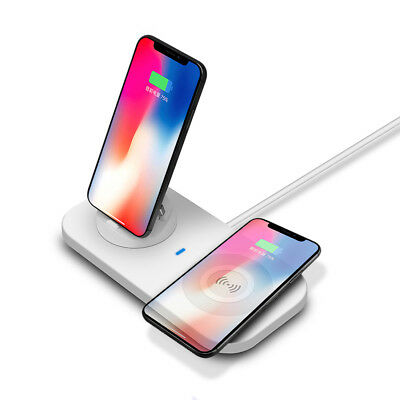 Qi Wireless Charger Dock Mat Pad 3in1 USB Charging Stand Station For Cell Phone
