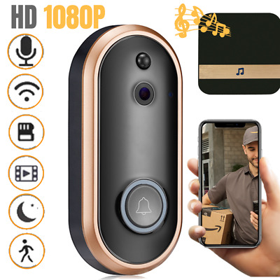 1080P WiFi Smart Doorbell Camera Chime Video Intercom Ring Wireless Security Kit