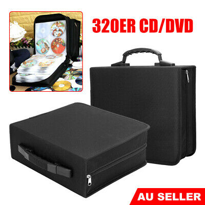 320 Black VCD DVD CD DISC Storage Case Holder Album Folder Bag Organizer Wallet