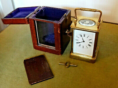 Antique Henri Jacot Striking Carriage Clock, with it´s original case and key