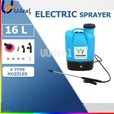 16L Electric Weed Rechargeable Backpack Sprayer Garden Farm Pump Chemical Spray