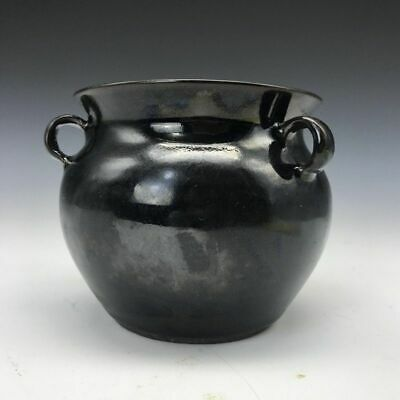 Collection of ancient Chinese rare handmade ceramic black cans / vase decoration