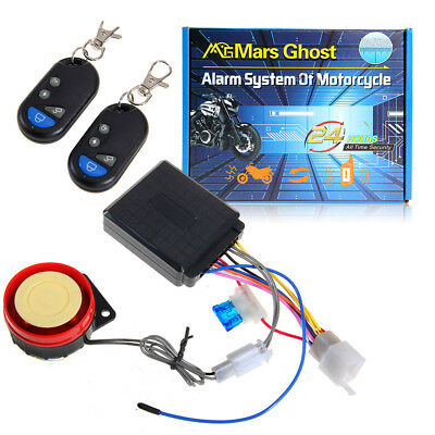 Motorcycle Bike Antitheft Security Alarm System Engine Start Remote Control ABS