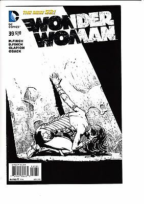 WONDER WOMAN #39, FINCH 1:50 SKETCH VARIANT, New, First print, DC NEW 52 (2015)