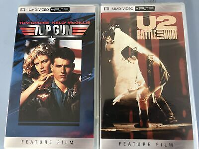 UMD Video Sammlung für PSP Top Gun mit Tom Cruise Team America U2 Rattle and Hum