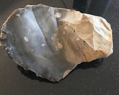 HIGHLY UNUSUAL left-handed Early paleolithic flint hand axe (UK)