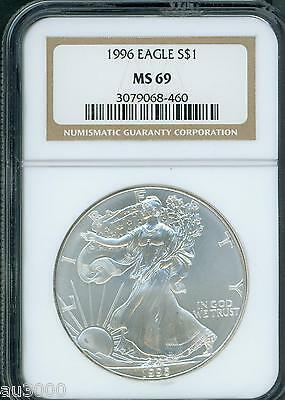 1996 American Silver Eagle ASE S$1 NGC MS69 MS-69 KEY DATE !!!!