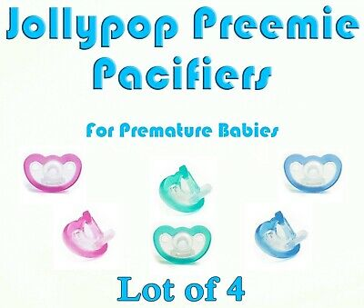 (4) JollyPop Pacifier Preemie Pick Color &/or Scent Baby Soothie Gumdrop Dummy