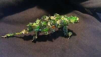Iguana Wire Glass Art Figurine