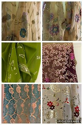 INDIAN SEQUIN BIKINI KIMONO SCARF WRAP COVER-UP Various Colours