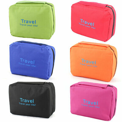 Portable Travel Toiletry Cosmetic Storage Pouch Case Wash Organizer Hanging Bag