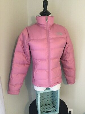 fef636b9e WOMENS USED THE North Face 550 Red Belted Goose Down Hooded Puffer ...
