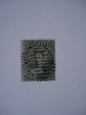 Canada Stamp Queen Victoria First Cents Issue 12 1/2 Cents Used F 1859