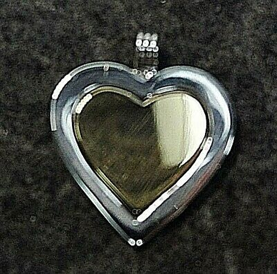 Tiffany & Co. Vintage Authentic Sterling Silver & 18k Gold Heart Pendant