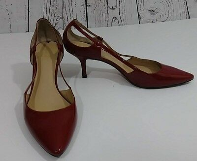 557a13de43e VIA SPIGA ~RED Patent Leather Strappy HeelS Sandals Size 8 1/2 M ...