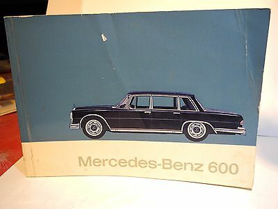 Mercedes-Benz 600 Limousine Owners  Manual 1964 German-French- Italian-Spanish