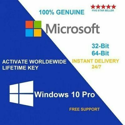 Microsoft Windows 10 Pro 32 / 64Bit Professional License Key Original Code